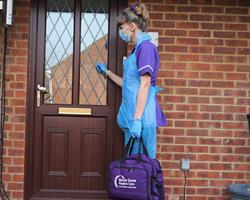 Hospice at Home nurse Lisa in PPE