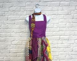 A stunning dress designed from reused clothing_cropped